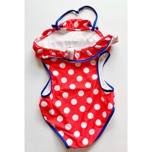 Disney Swim - Girls- Ted and while Minnie one piece bathing suit